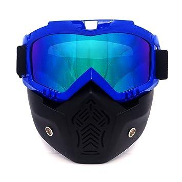 HCMAX Motocicleta Gafas de Protección Con Máscara Facial Desmontable Estilo Harley Casco Equitación Gafas de sol