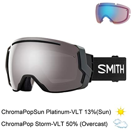 1ae63487567 Buy Smith Optics Adult I O 7 Snow Goggles Black   ChromaPop Sun Platinum  Mirror Online at Low Prices in India - Amazon.in