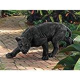 Design Toscano KY71174 Shadowed Predator Black Panther Garden Statue, Medium