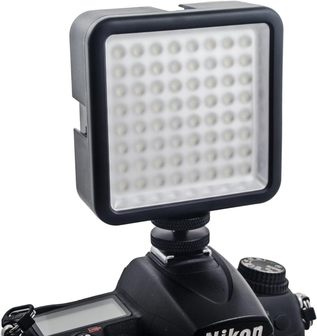 White Uonlytech LED64 6000K Dimmable High Brightness LED Video Light Camera Photo Light for DSLR Camera Camcorder Mini DVR