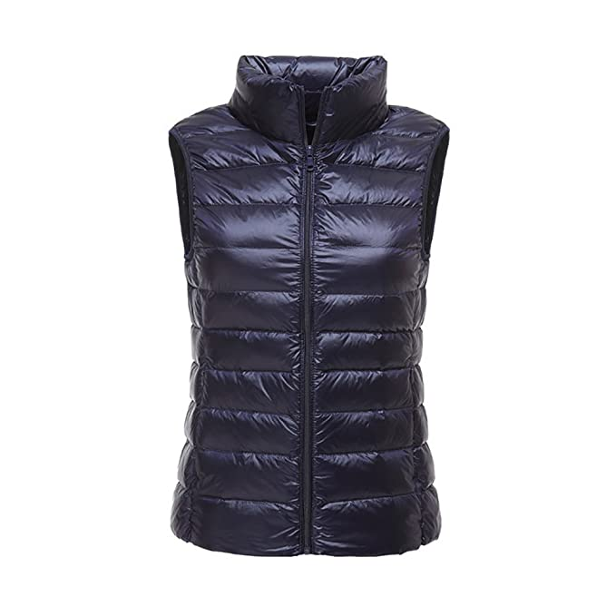Westen,Damen Zipper Daunenweste Frauen Winter Warm