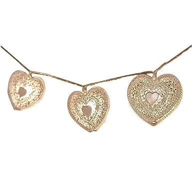 Trada Weißes Herzförmiges LED Licht, Zimmerdekoration Weiße Valentinstag  Dekoriert LED White Iron Heart