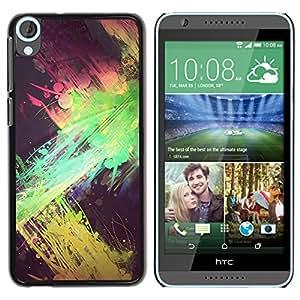 iKiki Tech / Estuche rígido - Green Pink Yellow Black Spots - HTC Desire 820