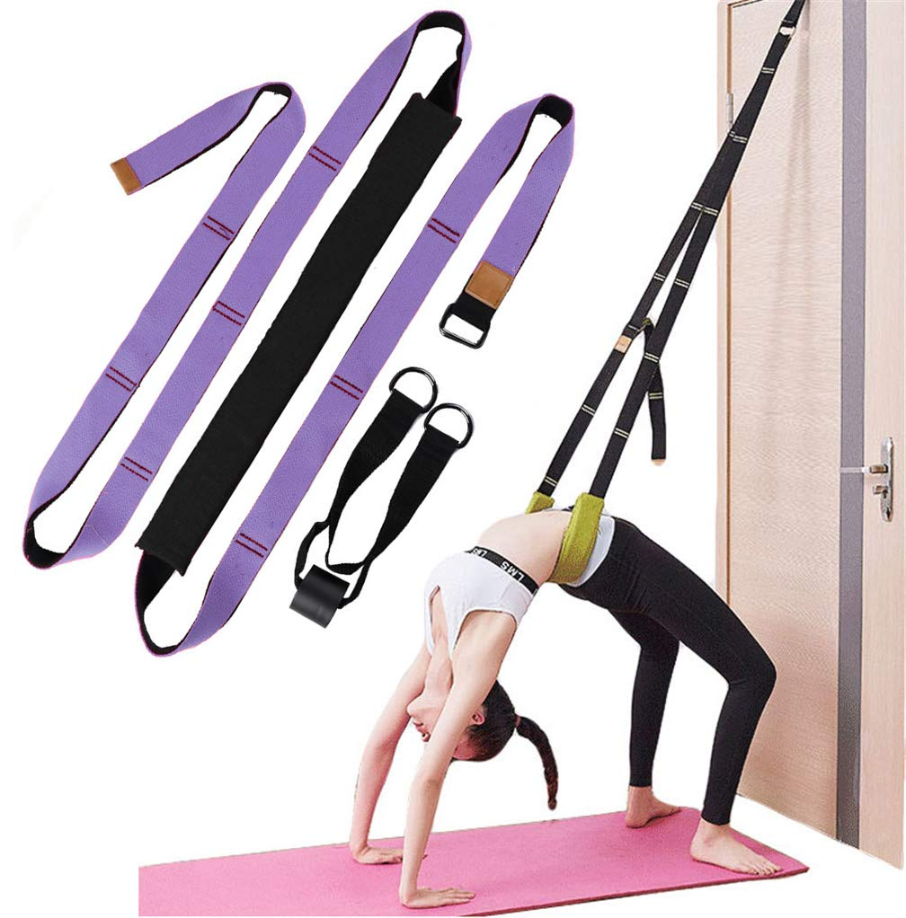 Xemz Back Bend Assist Trainer - Improve Back and Waist Flexibility, Door Flexibility Stretching Strap, Home Equipment for Ballet, Dance, Yoga, ...