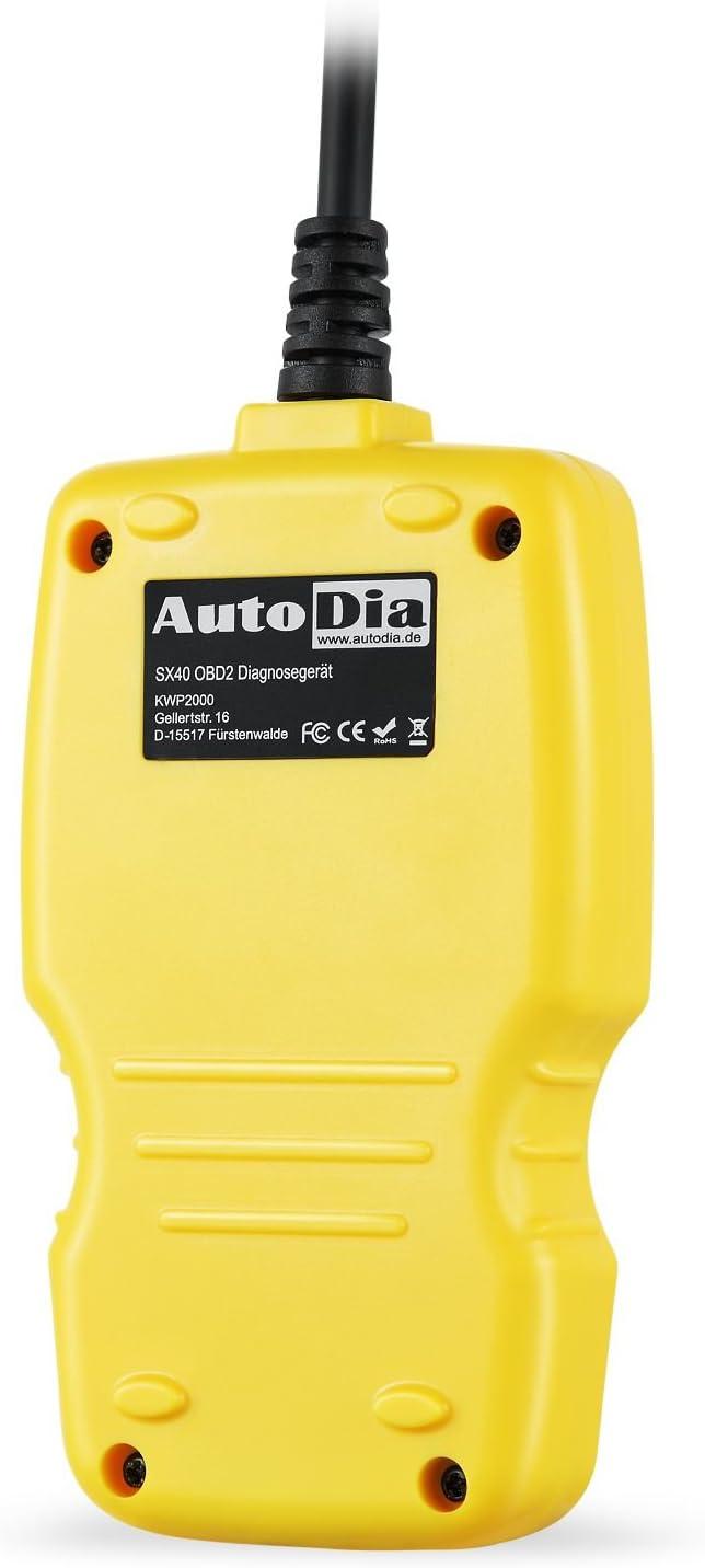 OBD2/de diagn/óstico EOBD esc/áner de Mano en alem/án AutoDia Coche Esc/áner de Diapositivas SX40/Bus Can