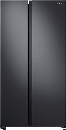 Samsung 700 L Inverter Frost-Free Side-by-Side Refrigerator (RS72R5011B4/TL, Gentle Black Matt)