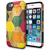 iPhone 6S Case, TORU [iPhone 6S Design Case] Protective Dual Layer Designer Pattern Fashion Cover for iPhone 6 / iPhone 6S - Wood Geo