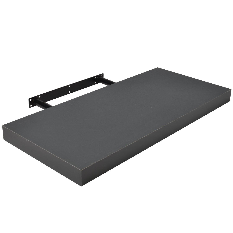 Beautissu Wandboard Pegasus 75 cm in Grau, freischwebend, Wandregal mit hoher Tragkraft & in div Farben - in 3 Längen