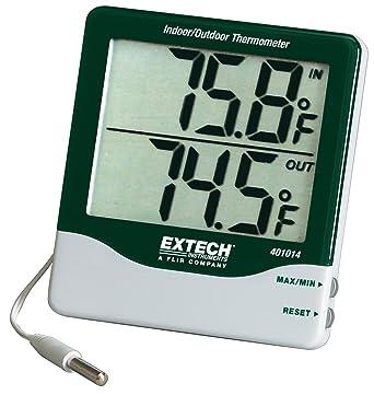 Extech 401014 Termómetro para interior/exterior con dígitos grandes