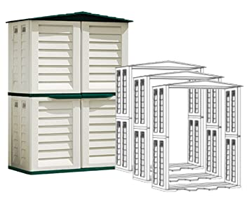 Caseta Jardín Resina Plástico Gardiun + 3 Ampliaciones: Amazon.es: Jardín