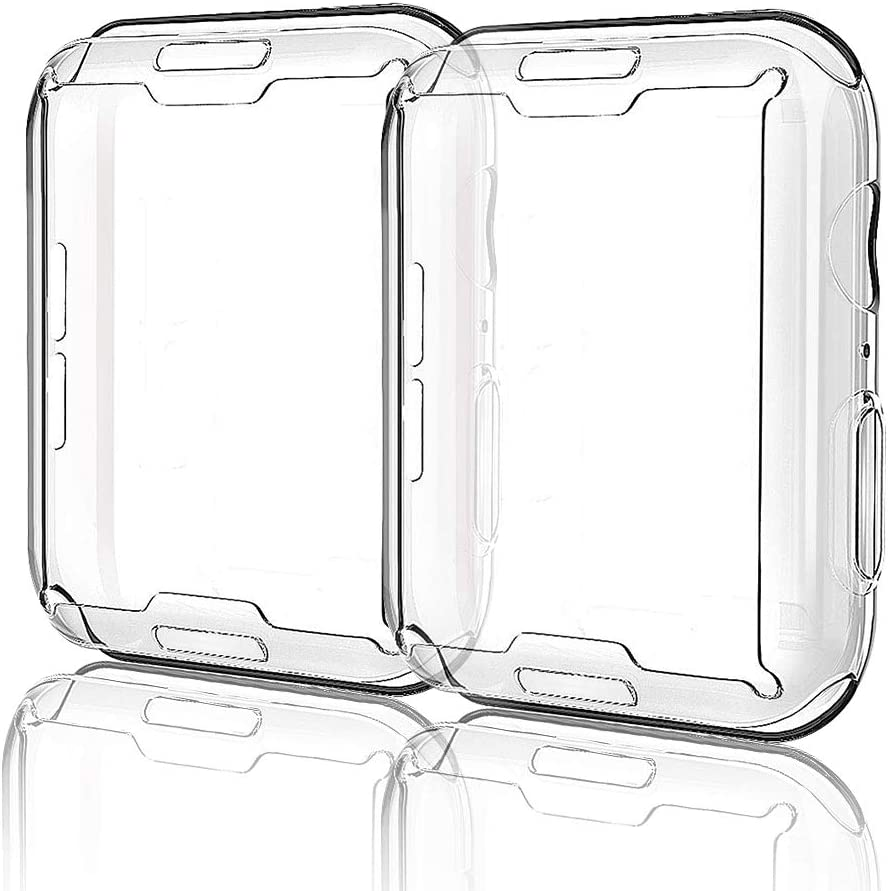 for Apple Watch Case iWatch Screen Protector TPU All-Around Protective Case Clear Ultra-Thin Cover for Apple Watch Series 3, 2 Pack Apple Watch 42mm case