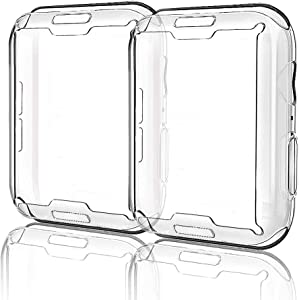 MITERV Case for Apple Watch Series 6 /SE/Series 5/Series 4 Screen Protector 44mm iWatch Overall Protective Case TPU HD Clear Ultra-Thin Cover for 44mm Apple Watch 2 Pack