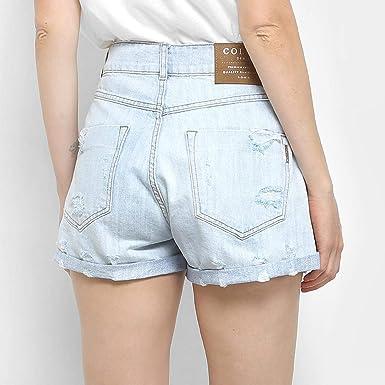 3e99fa6ef Shorts Jeans Colcci Taylor Com Dobra Feminino - Azul Claro - 38 ...