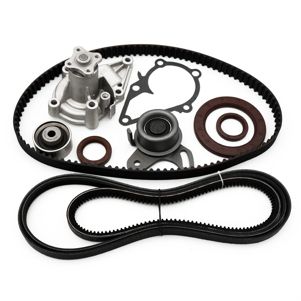 Motorhot Timing Belt Water Pump Kit with Tensioner for 2001-2011 Hyundai Accent G4ED 1.6L DOHC