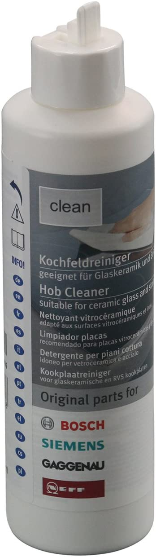 ORIGINAL Koch casella di BSH clean 3 pezzi Bosch Siemens 311502 vetro-ceramica in acciaio inox