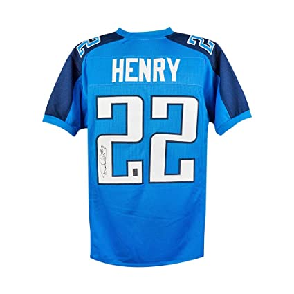 Image Unavailable. Image not available for. Color  Derrick Henry Autographed  Tennessee Titans Custom Light Blue Football Jersey JSA a6944cf01