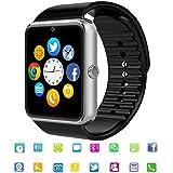 Reloj Inteligente Smart Watch Bluetooth Tagobee TB04 Tarjeta SIM Cámara Podómetro Whatsapp Notifications Compatible con Todos los teléfonos Android y iPhone (función Parcial)(Plata)