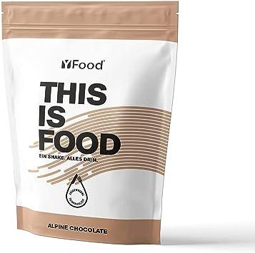 YFood Chocolate | Batido en Polvo | Sustituto de comida sin gluten ni lactosa | 17 comidas, 26 vitaminas y minerales | proteína en polvo | batido de ...