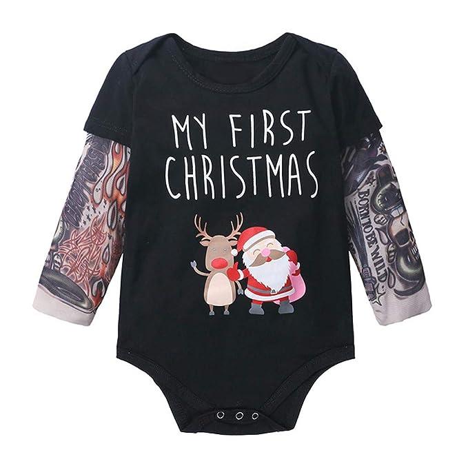 0-2 años, SO-buts Infantil Niños Bebés Mi Primera Navidad Manga ...