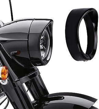 """Original 7/"""" Harley Davidson Headlamp Visor Style Trim Ring Black Touring"""