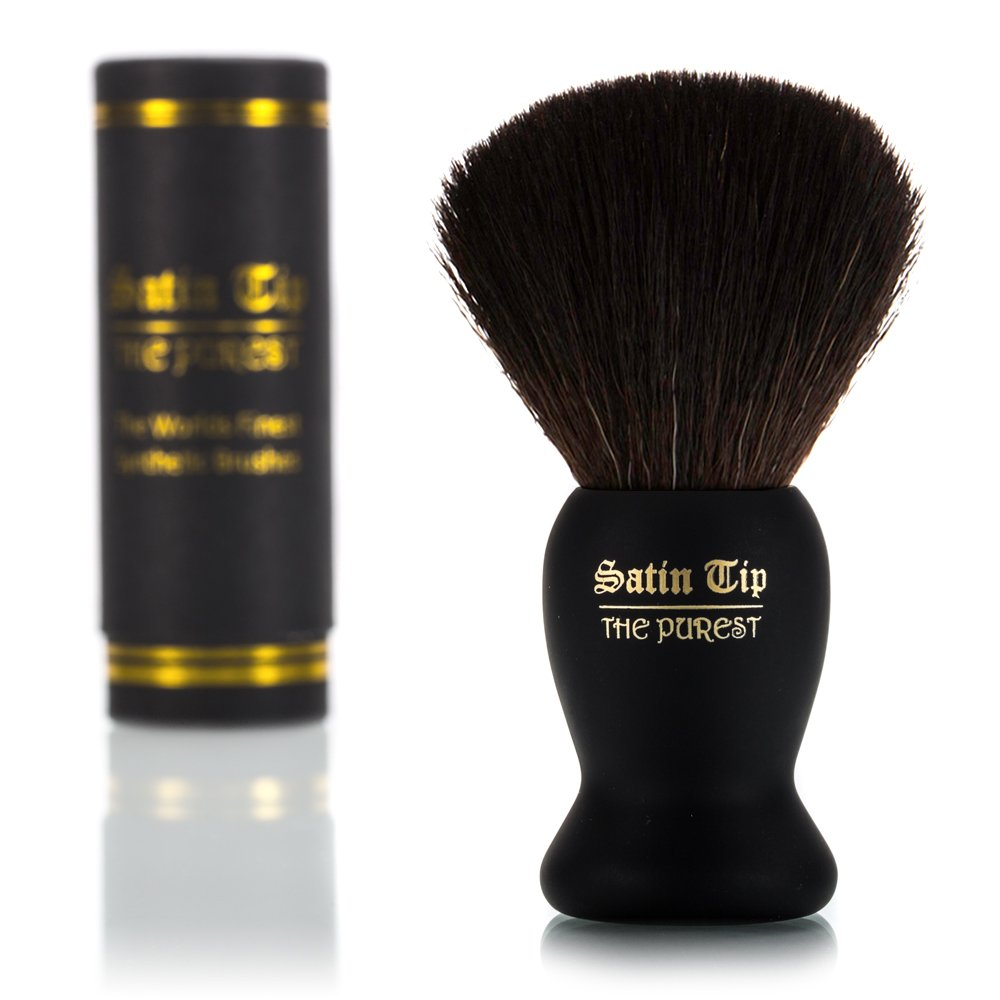 Satin Tip Shave Brush the Purest Luxury Synthetic, Black
