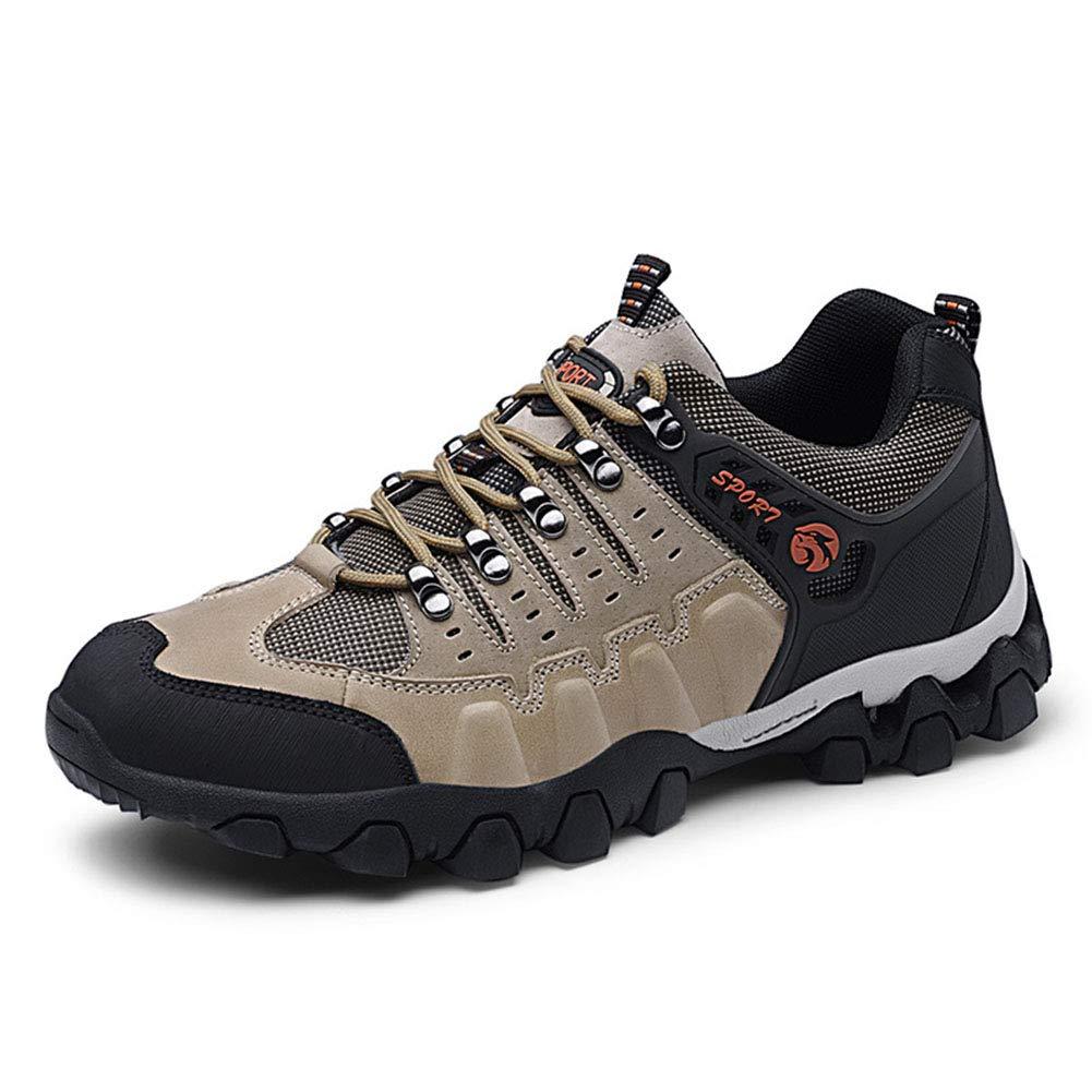 HRN Männer Rutschfeste Wanderschuhe niedrig zu helfen, Rutschfeste Männer Leder-Wanderschuhe schnüren Wasserdichte warme Schuhe Turnschuhe Outdoor 77dc09