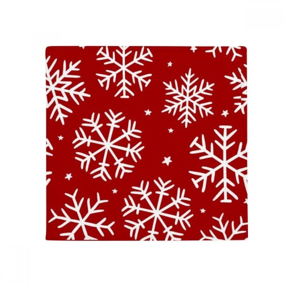 DIYthinker Christmas Snowflake Red Festival Anti-Slip Floor Pet Mat Square Home Kitchen Door 80Cm Gift