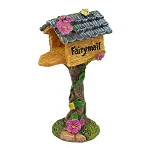 "NW Wholesaler Fairy Garden Supply - Fairy Furniture Collectibles - ""Fairymail"" Mailbox"