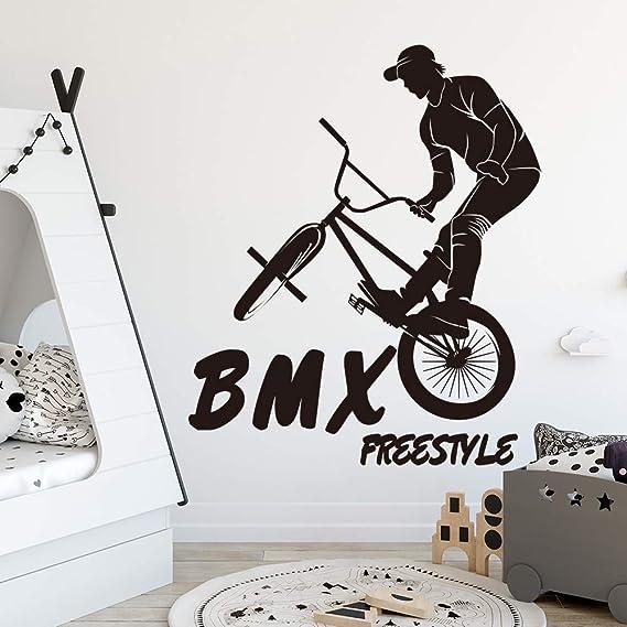 zzlfn3lv Grandes Deportes Extremos BMX Bicicleta Pared Pegatina niño habitación jardín de Infantes Bicicleta de montaña Bicicleta decoración de la Pared Dormitorio Vinilo decoración 55 * 65 cm: Amazon.es: Hogar