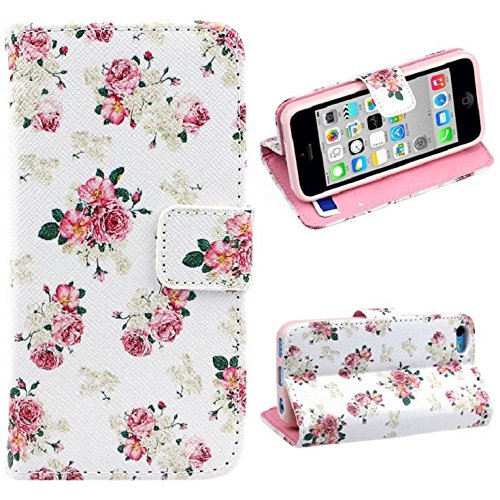 ChangeshoppingTMFashion Floral Jacquard have flick Leather Cover situation For iPhone 5C health and wellbeing private Care