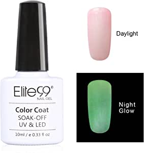 Qimisi Night Glow In The Dark Gel Nail Polish Soak Off Uv Led Luminous Gel Polish Candy Colour Fluorescent Nail Art 10Ml For Club, Festivals Or Night Out 6723