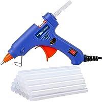 Hot Glue Gun,ccbetter upgraded version Mini Hot Melt Glue Gun with 30pcs Glue Sticks with glue gun removable Anti-hot…