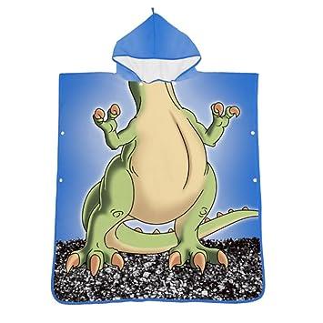 Poncho de toalla de baño con capucha para niños Unisex Niños Bebé Algodón orgánico Dibujos animados ...