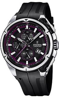 Festina Chrono Bike 2015 Men s Quartz Watch with Black Dial Chronograph  Display and Black Rubber Strap 9566e68109