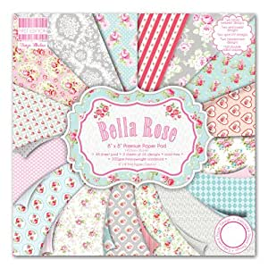 First Edition Bella Rose - Bloc de de papel para manualidades (20,3 x 20,3 cm, 48 hojas)