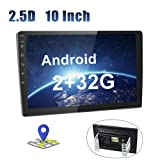 Android Car Radio 10 Inch Touch Screen 2G+32G GPS Sat Navi Stereo Player AMprime 2 Din Bluetooth WiFi FM Mobile Phone Mirror Link Dual USB