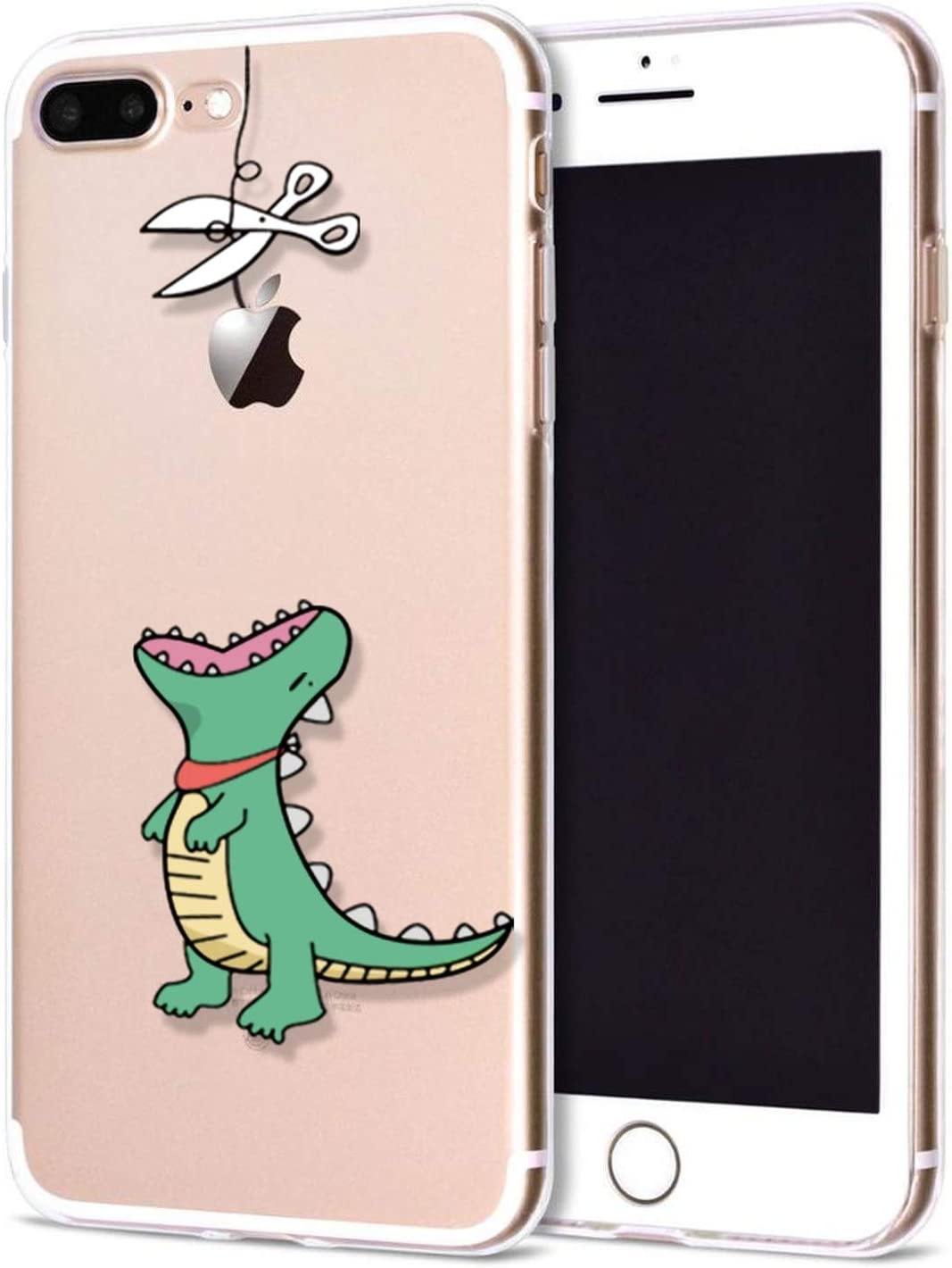 Fitted Case for iPhone 7 Case 6 S 8 Plus Silicone Shell Cute Woman Phone Case for iPhone 6 S X 5 S Se Coque for iPhone 6 Cover,Dinosaur,for iPhone 8