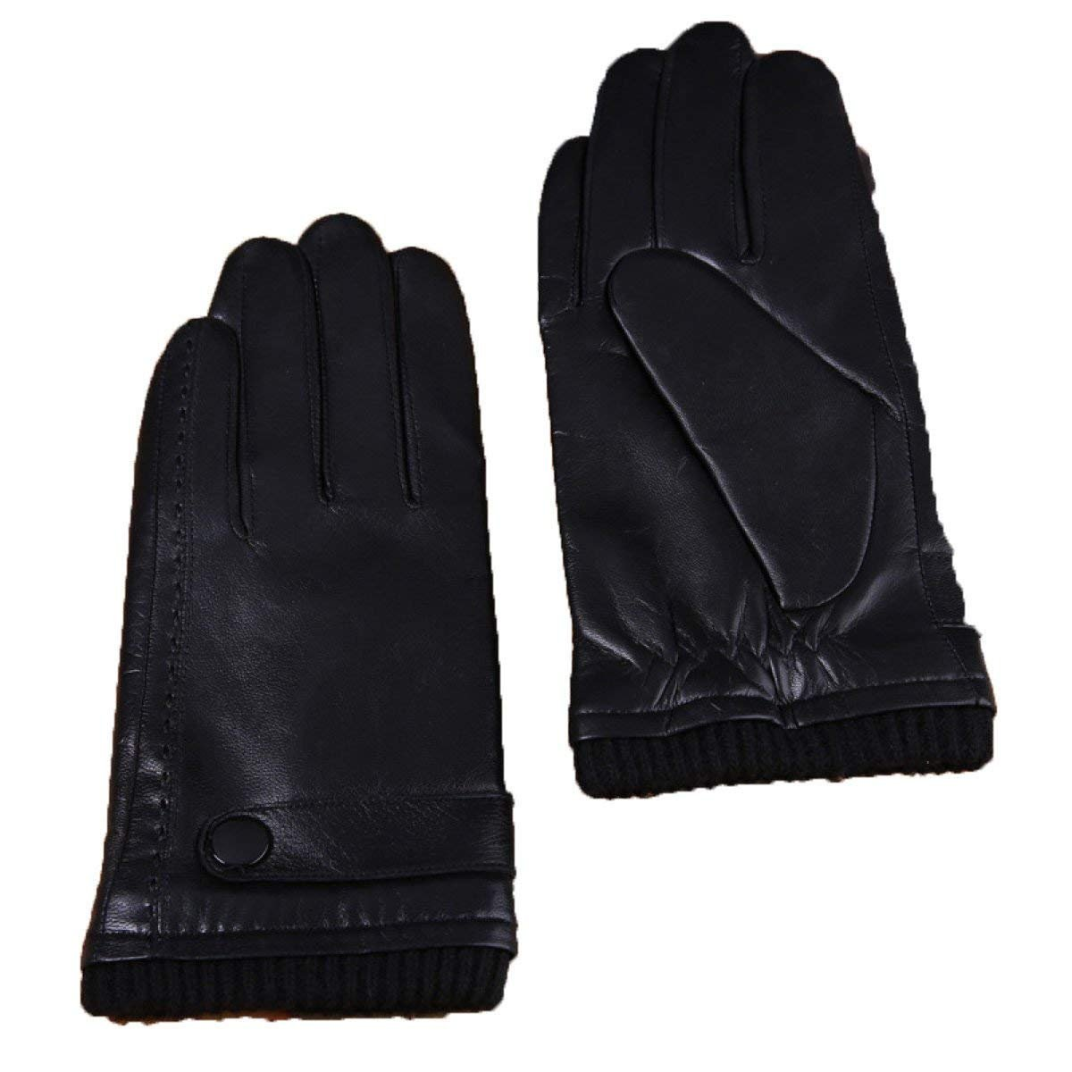 CWJ Gloves Men Warm Driving Business Touch Screen Touch Screen,Black,X-Large
