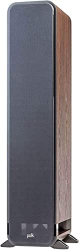 Polk Audio Signature Series S55 American Hi-Fi Home Theater Medium Tower Speaker, Single Classic Brown Walnut