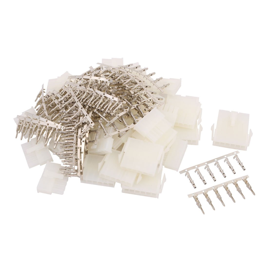 uxcell 20 Pair White Plastic 6 Pin Male + Female 4.2mm Pitch + 6 Pin Terminal Car Auto PC PSU ATX Connector