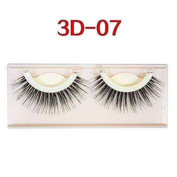 0ea28b391ff Amazon.com : 3D mink false eyelashes extension reusable self-adhesive curly  Natural eyelashes Self adhesive eyelashes makeup tools, 3 D 07 : Beauty