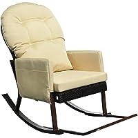 Silla reclinable de mecedora al aire libre