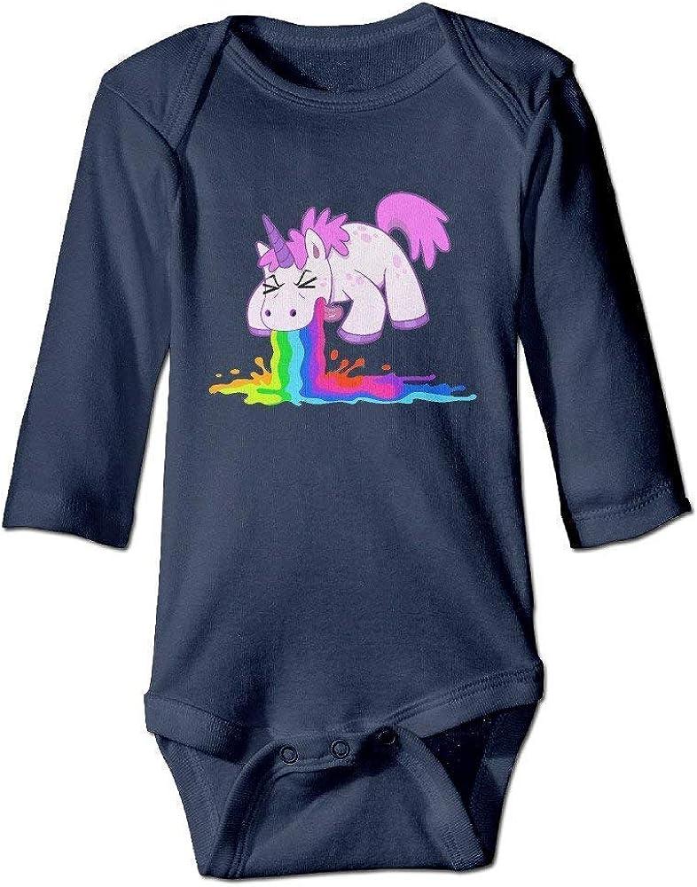 Purple Rhino Drinking Toddler Baby Long Sleeve Bodysuit Toddler Jumpsuit
