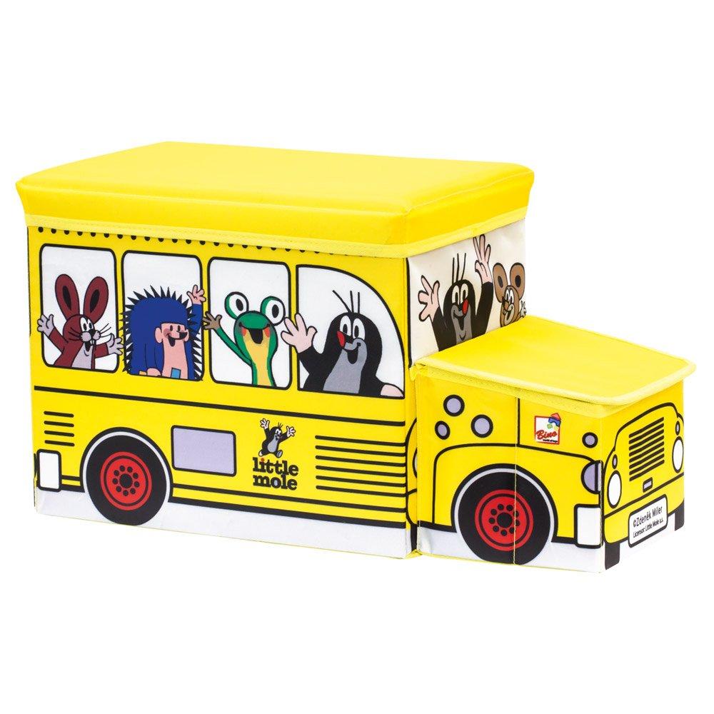 Bino Europe Topito Caja para Juguetes, autobús 13793