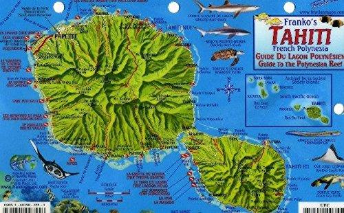 Tahiti Map & Guide To The Polynesian Reef Franko Maps Laminated Fish Card