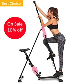 Vertical Climber máquina Stepper de entrenamiento gimnasio ejercicio entrenamiento escalada bicicleta estática 220 libras para casa 2 en 1