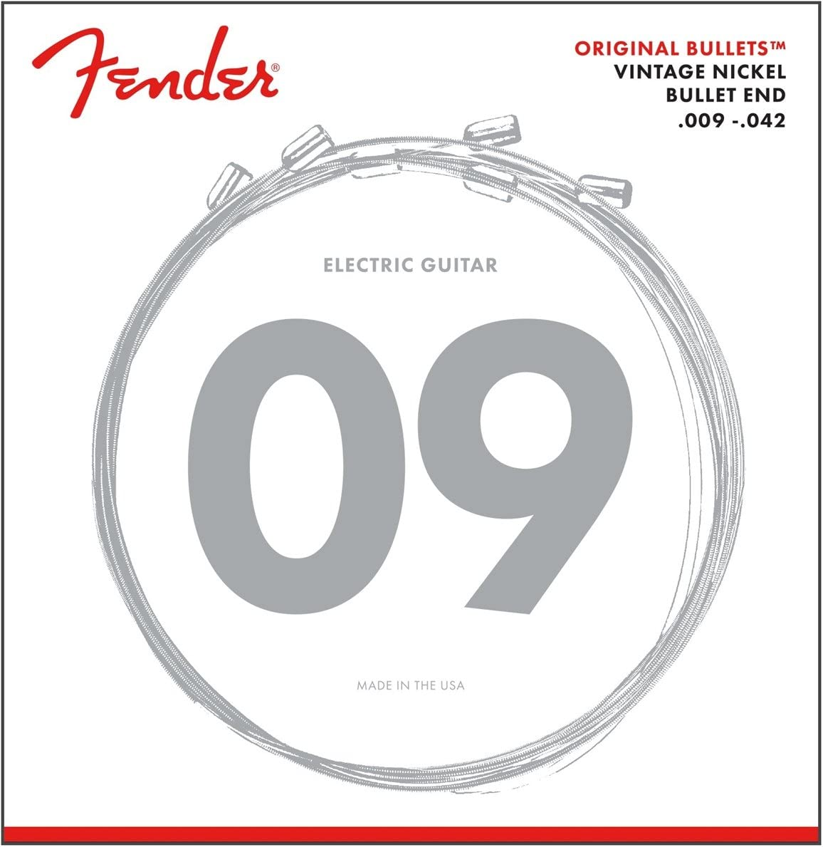 Fender 3150L Pure Nickel Bullet End Electric Guitar Strings - Light