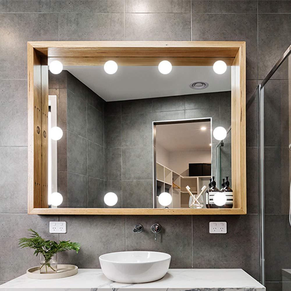 tira de accesorio de iluminaci/ón con interfaz USB faros de espejo LED de 3 colores regulables Hollywood Style para espejo de tocador de maquillaje Kit de luces de espejo de vanidad