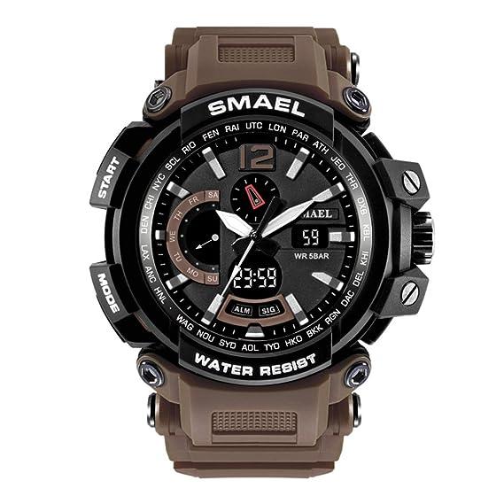 Nuevos relojes digitales para hombre Reloj deportivo impermeable Reloj digital azul para niños: Amazon.es: Relojes