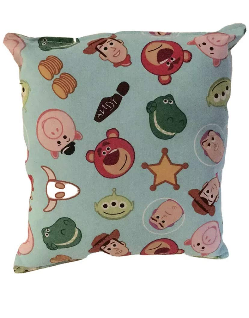 Woody and Friends Pillow Toy Story 4 Pillow 10 inches by 11 inches Handmade Hypoallergenic Cotton with Flannel Backing Ideal for Gift and Multiple Uses
